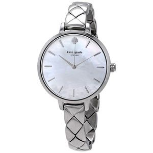Kate Spade Silver Watch With MOP Face